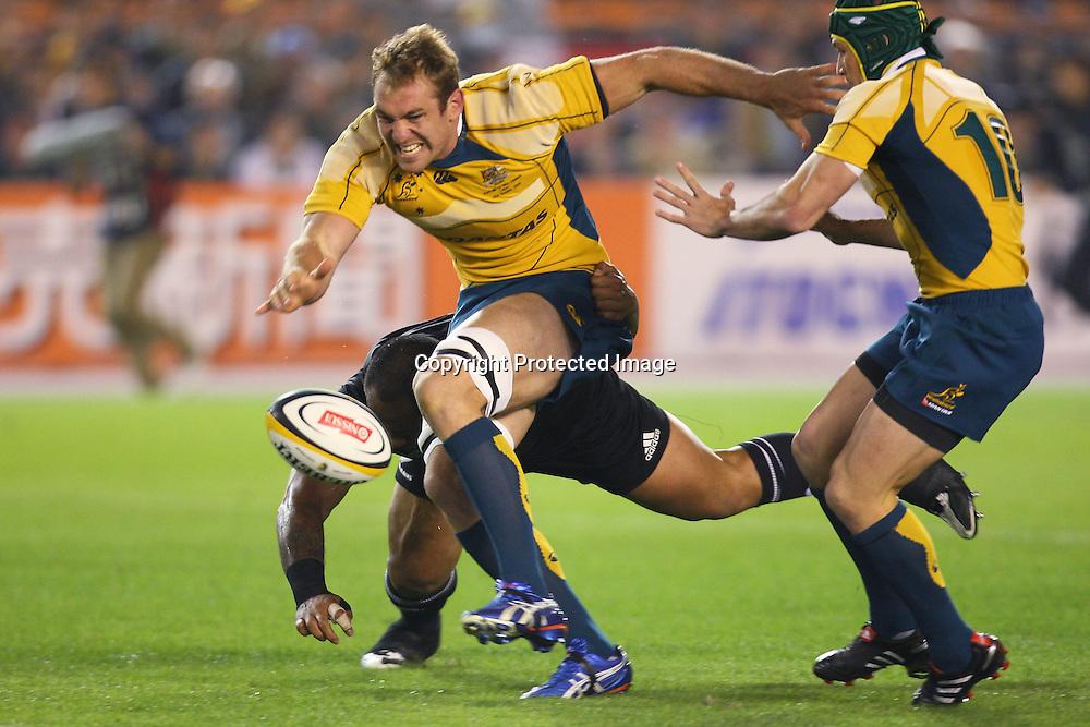 Rocky Elsom (AUS), OCTOBER 31, 2009 - Rugby : NISSUI TOKYO 2009 BLEDISLOE CUP match between New Zealand (All Blacks) 32-19 Australia (Wallabies) at National Stadium, Tokyo, Japan. (Photo by Daiju Kitamura/AFLO SPORT) [1045]