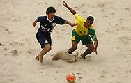 Football-FIFA Beach Soccer World Cup 2006 - Group A- Brazil - USA, Beachsoccer World Cup 2006. Brasilian's Benjamin and USA Chimienti - Rio de Janeiro - Brazil 07/11/2006. Mandatory credit: FIFA/ Manuel Queimadelos
