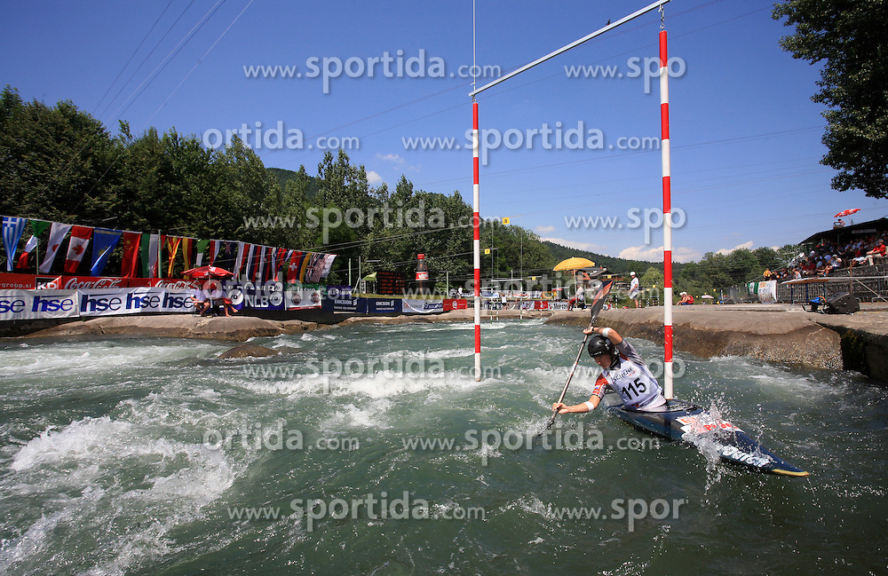 Ariane Herde (NED) of Women's K1 Kayak Single at Heats - 1st Run of ICF Kayak/Canoe Slalom Racing World Cup Tacen 2008, on June 28, 2008, Ljubljana, Slovenia. (Photo by Vid Ponikvar / Sportal Images)../ Sportida)
