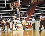 """Arizona's Ify Ibekwe (3) scores  at the C.M. """"Tad"""" Smith Coliseum in Oxford, Miss. on Thursday, November 18, 2010. Arizona won 72-70."""