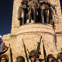 Turkish military in Taksim square