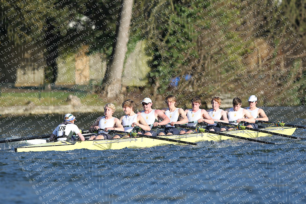 2012.02.25 Reading University Head 2012. The River Thames. Division 2. Kings School Chester Boat Club A IM2 8+