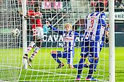ALKMAAR - 25-01-2017, AZ - sc Heerenveen, AFAS Stadion, AZ speler Derrick Luckassen (l) scoort hier de 1-0, doelpunt,