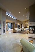 Tiled Palm Springs living room interior