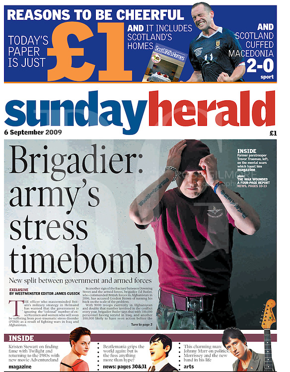 Sunday Herald Front cover.<br /> Pictured ex para.