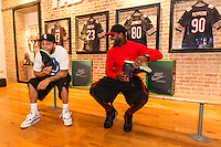 Johnny Knox and Devin Hester of the Chicago Bears at Nike NTC in Chicago.