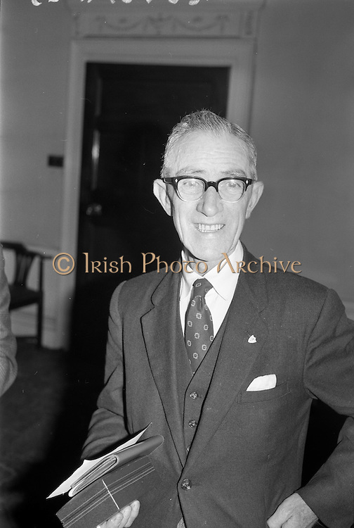 13/02/1963<br /> 02/13/1963<br /> 13 February 1963<br /> Retirement presentation at Gilbeys of Ireland Ltd. A presentation of a cheque for £100 and a gold watch was made to Paddy Slater (65), on his retirement after 49yrs and 7 months service with the company. A sum of money was also presented by the staff. Picture shows:  Mr. Slater with his awards.