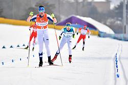 INOLA Inkki FIN B3 Guide: SORMUNEN Vili competing in the ParaSkiDeFond, Para Nordic Skiing, 20km at  the PyeongChang2018 Winter Paralympic Games, South Korea.