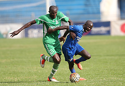 Fredrick Onyango of Sony Sugar tackles Noah Abich of Bandari FC during their GOTv Shield quarter finals at Nyayo Stadium in Nairobi on August 19, 2017. Sony won 3-1. Photo/Fredrick Omondi/www.pic-centre.com(KENYA)