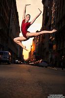 Manhattanhenge New York City- Dance As Art Photography Project featuring dancer,