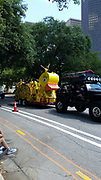 """""""The Bat Jeep"""" and """"The Duckmobile"""" from Meyerland Performing & Visual Arts Middle School."""