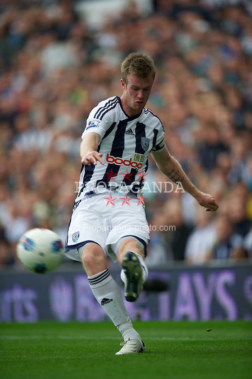 WEST BROMWICH, ENGLAND - Sunday, August 28, 2011: West Bromwich Albion's Chris Brunt in action against Stoke City during the Premiership match at the Hawthorns. (Pic by David Rawcliffe/Propaganda)