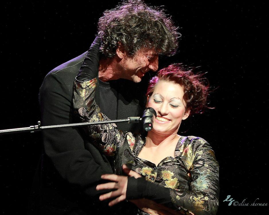 "Neil Gaiman abd Amanda Palmer perform on November 9th, 2011 during the ""An Evening with Neil Gaiman & Amanda Palmer""  at the Moore Theatre."