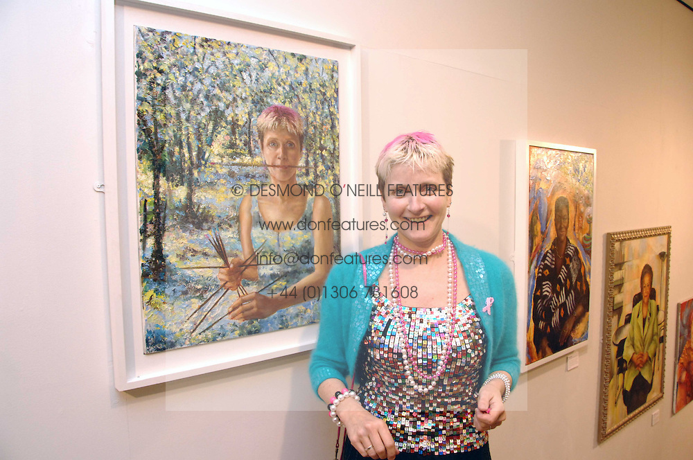 Artist TESS BARNES at an exhibition of her work '50 Women of Substance' sponsored by First Direct in aid of Breast Cancer Haven held at The Mall Gallery, London on 26th February 2008.<br /><br />NON EXCLUSIVE - WORLD RIGHTS