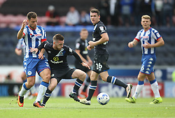 Yanic Wildschut of Wigan Athletic (L) and Jack Byrne of Blackburn Rovers in action - Mandatory by-line: Jack Phillips/JMP - 13/08/2016 - FOOTBALL - DW Stadium - Wigan, England - Wigan Athletic v Blackburn Rovers - EFL Sky Bet Championship