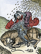 Conversion of St Paul on the road to Damascus. From Hartmann Schedel 'Liber chronicarum mundi' (Nuremberg Chronicle), Nuremberg, 1493. Woodcut
