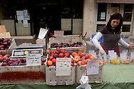 Female Fruit Stall Vendor, Old Monterey Farmers Market, California