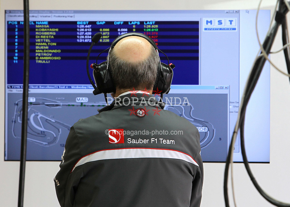 09.03.2011, Circuit de Catalunya, Barcelona, ESP, Formel 1 Test 4 2011,  im Bild Peter Sauber (SUI), Team Chef Sauber F1 Team .EXPA Pictures © 2011, PhotoCredit: EXPA/ nph/  Poleposition.at       ****** only for AUT ans SLO *******