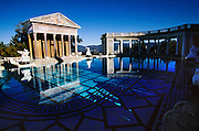 Pool & courtyard of Hearst Castle, San Simeon, California. USA.