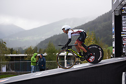 Lina Svarinksa (LAT) at UCI Road World Championships 2018 - Junior Women's ITT, a 19.8 km individual time trial in Innsbruck, Austria on September 24, 2018. Photo by Sean Robinson/velofocus.com