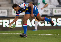 Stormers' Damian Willemse scores a try against the Highlanders in the Super Rugby match, Forsyth Barr Stadium, Dunedin, New Zealand, Friday, March 9, 2018. Credit:SNPA / Adam Binns ** NO ARCHIVING**