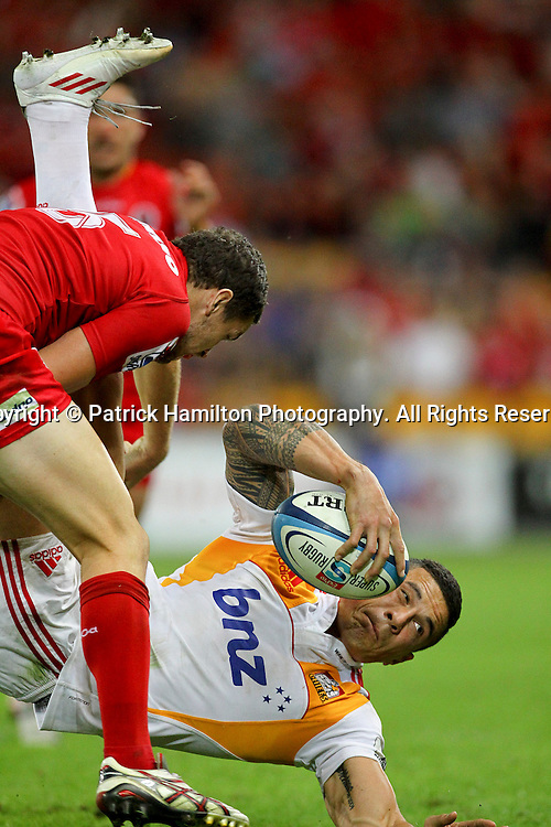 Chiefs Inside centre Sonny Bill Williams during the Super Rugby game at Suncorp Stadium, Sunday 13, May 2012 .