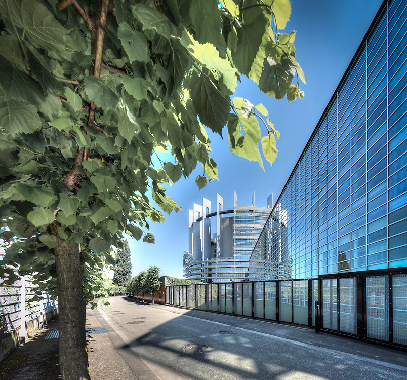 Strasbourg's implantation of the European Parliament - Outside view.<br /> Cr&eacute;dit Paul Marnef / ISOPIX