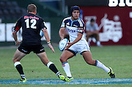 Benson Stanley of The Blues during the Super15 match between The Mr Price Sharks and The Blues held at Mr Price Kings Park Stadium in Durban on the 26th February 2011..Photo By:  Ron Gaunt/SPORTZPICS