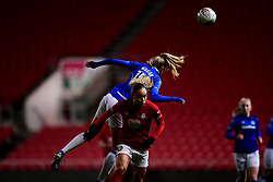 Esme Morgan of Everton Women contends for the aerial ball with Ebony Salmon of Bristol City - Mandatory by-line: Ryan Hiscott/JMP - 17/02/2020 - FOOTBALL - Ashton Gate Stadium - Bristol, England - Bristol City Women v Everton Women - Women's FA Cup fifth round