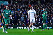 Leeds United midfielder Kalvin Phillips (23) with one sock down during the EFL Sky Bet Championship match between Leeds United and Sheffield Wednesday at Elland Road, Leeds, England on 11 January 2020.