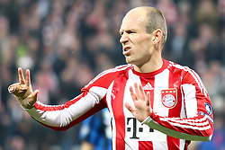 15.03.2011, Allianz Arena, Muenchen, GER, UEFA CL Viertelfinale, FC Bayern Muenchen vs Inter Mailand, im Bild  Arjen Robben (Bayern #10) , EXPA Pictures © 2011, PhotoCredit: EXPA/ nph/  Straubmeier       ****** out of GER / SWE / CRO  / BEL ******