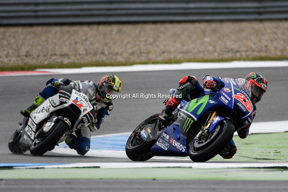June 24th 2017, TT Circuit, Assen, Netherlands; MotoGP Grand Prix TT Assen, Qualifying Day;  Maverick Vinales (Movistar yamaha) during the qualifying sessions
