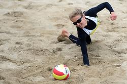 16-08-2014 NED: NK Beachvolleybal 2014, Scheveningen<br /> Sophie van Gestel
