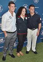 LONDON - July 26: David Boudia, Christina Lucas & Troy Dumais at the U.S. Olympic Committee Benefit Gala (Photo by Brett D. Cove)