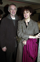 Actor JONATHAN PRYCE and close friend KATE FAHY, at a party in London on 23rd February 2000.OBK 27