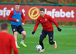 CARDIFF, WALES - Tuesday, November 13, 2018: Wales' Aaron Ramsey during a training session at the Vale Resort ahead of the UEFA Nations League Group Stage League B Group 4 match between Wales and Denmark. (Pic by David Rawcliffe/Propaganda)