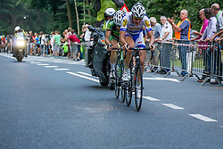 Rhenen, The Netherlands - Dutch Food Valley Classic (UCI 1.1) - 23th August 2013 - 2 escape riders in the last 10 km