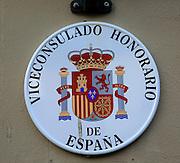 Spanish Honorary Consul sign, Trondheim, Norway