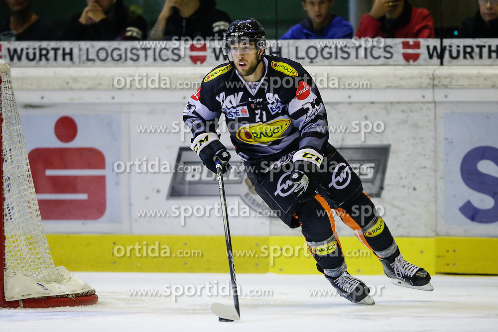 16.09.2016, Messestadion, Dornbirn, AUT, EBEL, Dornbirner Eishockey Club vs Moser Medical Graz 99ers, 1. Runde, im Bild Charlie Sarault, (Dornbirner Eishockey Club, #21) // during the Erste Bank Icehockey League 1st Round match between Dornbirner Eishockey Club and Moser Medical Graz 99ers at the Messestadion in Dornbirn, Austria on 2016/09/16. EXPA Pictures © 2016, PhotoCredit: EXPA/ Peter Rinderer