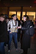 "Ligaya Salazar and Kaat Debo. The private views for Anna Piaggi's exhibition ""Fashion-ology"" and also 'Popaganda: the life and style of JC de Castelbajacat' the Victoria & Albert Museum on January 31  2006. © Copyright Photograph by Dafydd Jones 66 Stockwell Park Rd. London SW9 0DA Tel 020 7733 0108 www.dafjones.com"