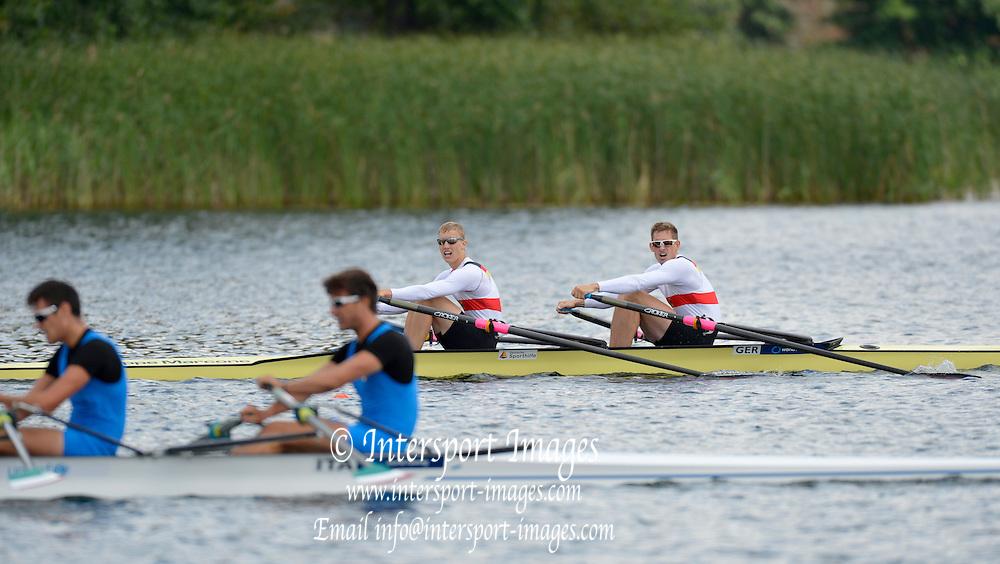 Trackai. LITHUANIA. 2012 FISA U23 World Rowing Championships,  Lake Galve.    14:32:58  Saturday  14/07/2012 [Mandatory Credit: Peter Spurrier/Intersport Images]..Rowing. 2012. U23.