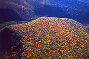 Aerial, Pine Creek Gorge and mountain fall colors, Pennsylvania