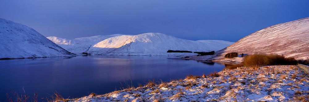 Winter light over Megget Reservoir in the Scottish Borders