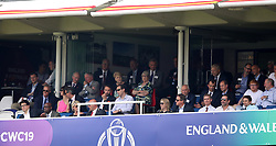Michael McIntyre (left) , England Manager Gareth Southgate (centre), David Cameron, Prince Edward, Matt Bellamy and Ed Sheeran in the stands during the ICC Cricket World Cup group stage match at Lord's, London.