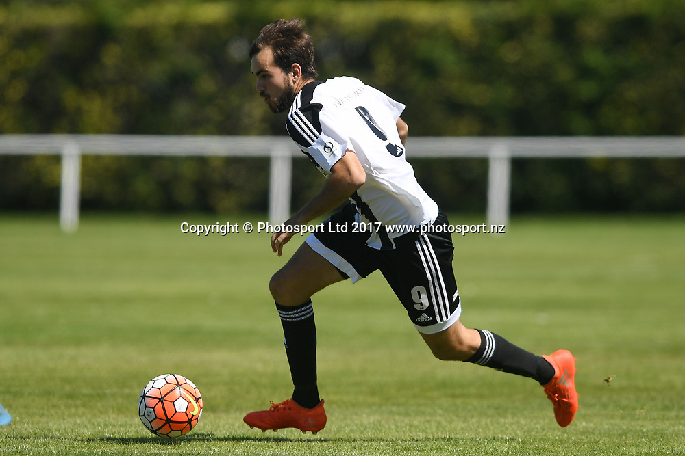 Hawkes Bay United's Facundo Barbero makes a break in the Stirling Sports Premiership match, Hawke's Bay United v Hamilton Wanderers, Park Island, Napier, Sunday, March 19, 2017. Copyright photo: Kerry Marshall / www.photosport.nz