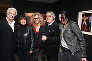 KEN FOLLETT; BARBARA FOLLETT;; BILL WYMAN; SUZANNE WYMAN-BILL WYMAN - REWORKED' , Photographs by Bill Wyman and reworks by Gerald Scarfe, Pam Glew, Dale Marshall, Penny and James Mylne, Rook & Raven Gallery: 7-8 Rathbone Place, London. 26 February 2013