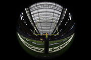 NRG Stadium appears in this general view photograph of the stadium interior taken before the Houston Texans NFL week 8 regular season football game against the Miami Dolphins on Thursday, Oct. 25, 2018 in Houston. The Texans won the game 42-23. (©Paul Anthony Spinelli)
