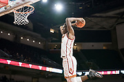 Southern California Trojans forward Onyeka Okongwu (21) goes up for a dunk against the Pepperdine Waves during an NCAA college basketball game, Tuesday, Nov. 19, 2019, in Los Angeles. USC defeated Pepperdine 91-84. (Jon Endow/Image of Sport)