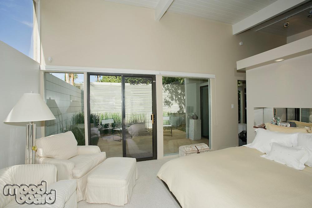 Bedroom in modern residence
