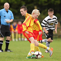 Avenue United's Tomás (Mossy) Hehir & David Roche in action against Moher Celtic in the U13 Cup Final.<br /> Photograph by Flann Howard